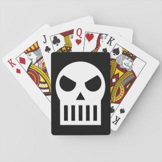 Cráneo simple cartas de póquer