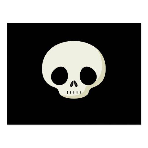 Cráneo simple del dibujo animado postales