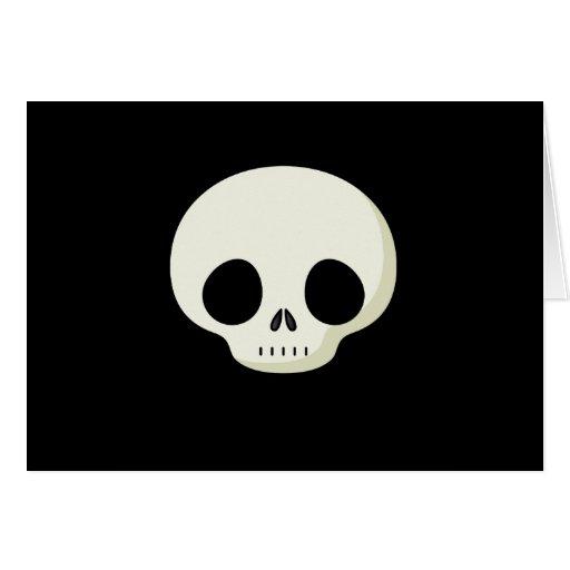 Cráneo simple del dibujo animado tarjeta de felicitación