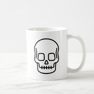 Cráneo simple taza de café