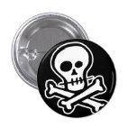 Cráneo simple y bandera pirata de B&W Pins