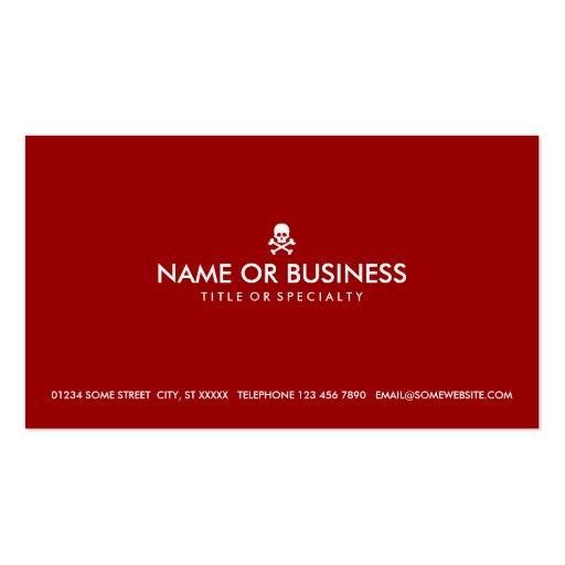cráneo simple y bandera pirata (personalizable del plantilla de tarjeta de negocio