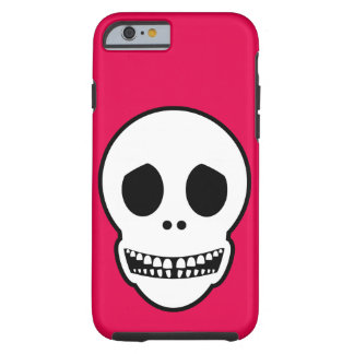Cráneo sonriente amistoso funda de iPhone 6 tough