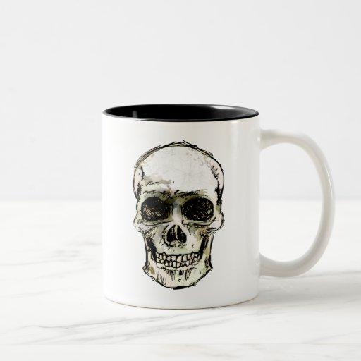 Cráneo sonriente taza