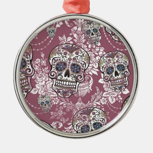 Cráneo suave dulce azucarado del azúcar adorno navideño redondo de metal