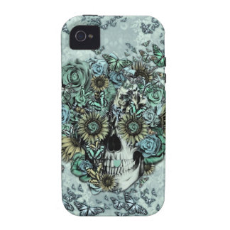 Cráneo subió mariposa retra iPhone 4 carcasa