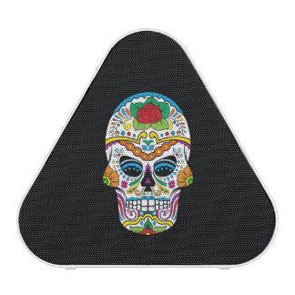 Cráneo subió tatuaje mexicano del azúcar altavoz
