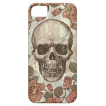 Cráneo subió vintage en paleta de color neutral iPhone 5 carcasa