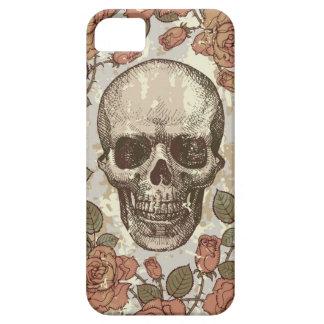 Cráneo subió vintage en paleta de color neutral iPhone 5 fundas