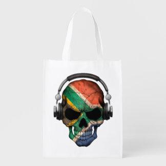 Cráneo surafricano adaptable y auriculares de DJ Bolsas Reutilizables