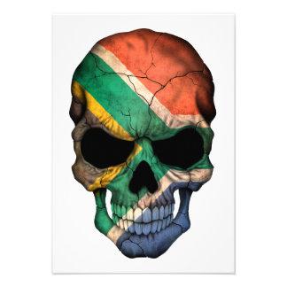 Cráneo surafricano de la bandera invitación
