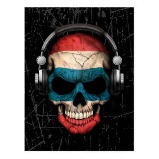 Cráneo tailandés rasguñado de DJ con los Postales