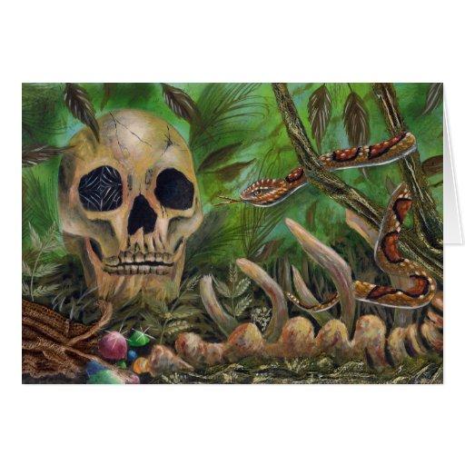 cráneo tarjeta de felicitación