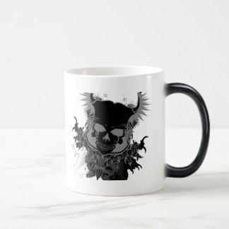 cráneo taza de café