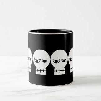 Cráneo Taza De Café De Dos Colores
