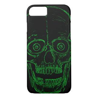 Cráneo tóxico del demonio del verde del cráneo de funda iPhone 7