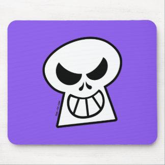 Cráneo travieso de Halloween Alfombrilla De Ratón