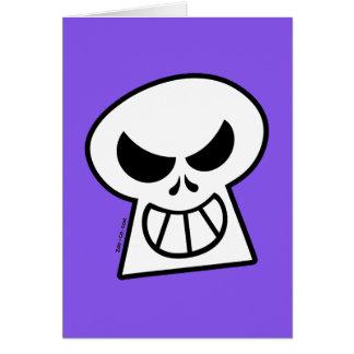Cráneo travieso de Halloween Tarjeta De Felicitación