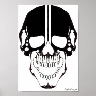 Cráneo tribal 1 póster