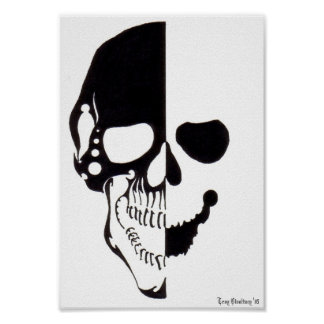 Cráneo tribal 2 póster