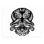 Cráneo tribal 355 postal