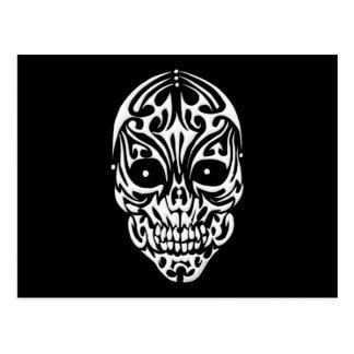 Cráneo tribal postales