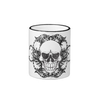Cráneo tribal urbano tazas de café