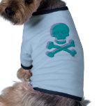 Cráneo tricolor camisas de perritos