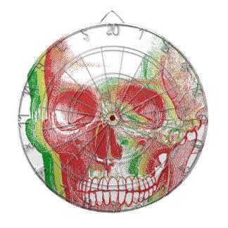 Cráneo tricolor de Rasta Tablero Dardos