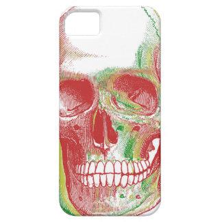 Cráneo tricolor de Rasta iPhone 5 Case-Mate Cárcasas