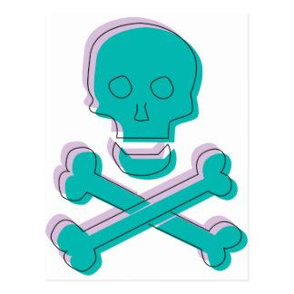Cráneo tricolor postales