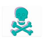Cráneo tricolor tarjetas postales