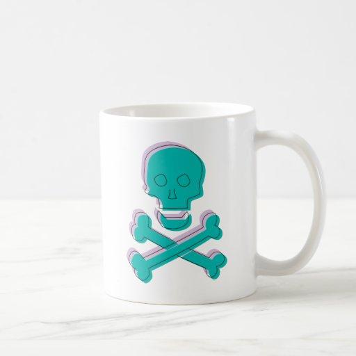 Cráneo tricolor tazas de café