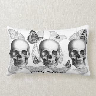 Cráneo triple con la almohada GRANDE de las maripo