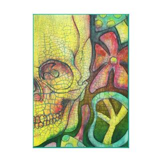 Cráneo Trippy Impresiones En Lona Estiradas