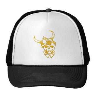 Cráneo urbano del oro de la camiseta gorras de camionero