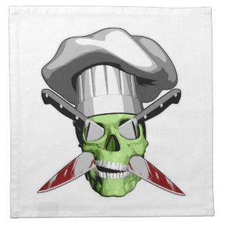 Cráneo v19 del zombi servilleta