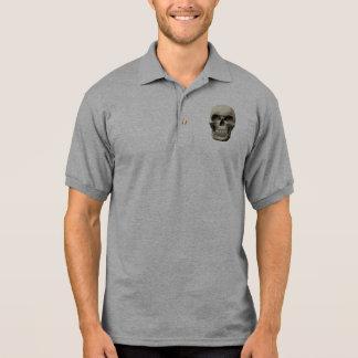 Cráneo vampírico malvado polo camisetas