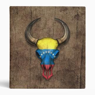 Cráneo venezolano de Bull de la bandera en el efec
