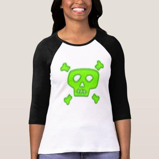Cráneo verde camisetas
