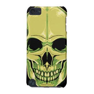 Cráneo verde de mueca asustadizo funda para iPod touch 5G