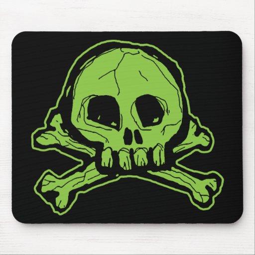 Cráneo verde de Scribbly Tapete De Raton