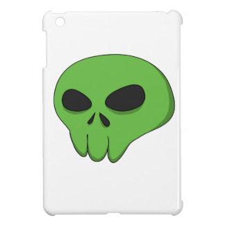 cráneo verde del dibujo animado