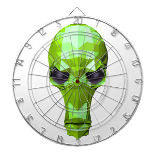 Cráneo verde tablero de dardos