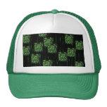 Cráneo verde gorras de camionero