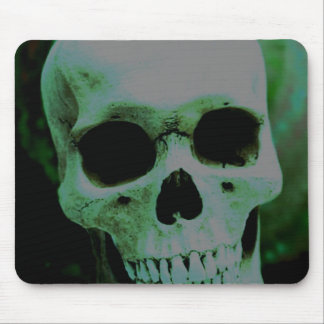 Cráneo verde tapete de ratones