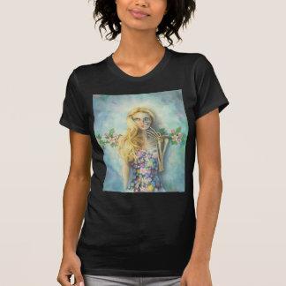 """""""Cráneo, vestido de la flor"""" por Scot Howden Camisetas"""