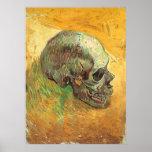 Cráneo, Vincent van Gogh, arte del impresionismo d Poster