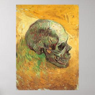 Cráneo, Vincent van Gogh, arte del impresionismo Póster