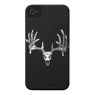 Cráneo w del venado de cola blanca Case-Mate iPhone 4 protector
